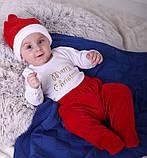 Новогодний костюмчик для малышей Санта (0-6 мес), фото 9