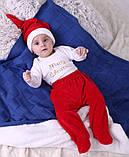 Новогодний костюмчик для малышей Санта (0-6 мес), фото 10