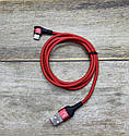 Магнитный Type-C USB кабельTwitch 1м зарядный шнур с боковым подключением овальный коннектор, фото 2