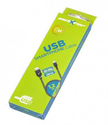 Кабель Maxxter UB-AMM-1.2M Usb 2.0 папа /Micro Usb папа, 1.2м. (коробка), фото 2