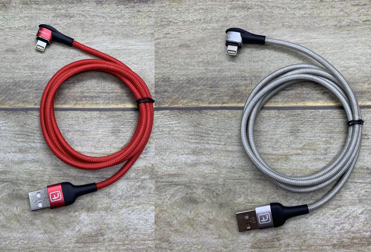 Магнитный Lightning (лайтинг) USB кабель Twitch 1м зарядный шнур с боковым подключением овальный коннектор