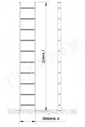 Алюминиевая лестница приставная на 10 ступеней (профессиональная), фото 2