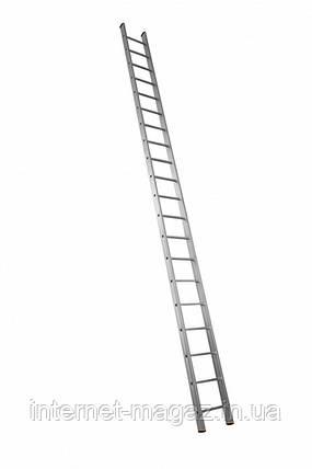 Алюминиевая лестница приставная на 20 ступеней (профессиональная), фото 2