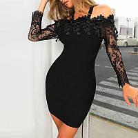 Нарядное платье декорировано кружевом, фото 1