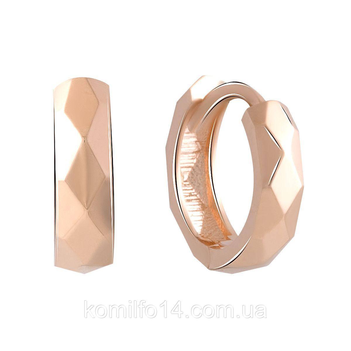 Золотые серьги Komilfo без камней (2055679)