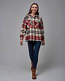 Теплая клетчатая женская рубашка. Турция, фото 2