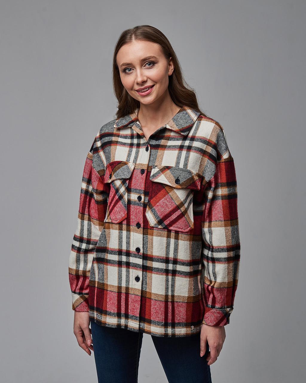 Теплая клетчатая женская рубашка. Турция