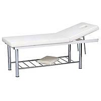 Стационарный массажный стол кушетка устойчивый двух секционный металлическая конструкция SP-807