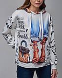 Трикотажный женский свитшот. Турция, фото 3