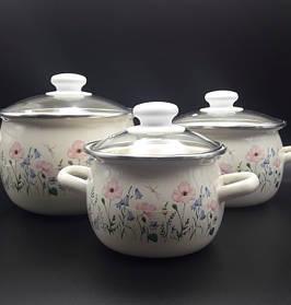 Набір ем. посуду 3-х предм. №6926 Еліка (молочна) ТМ IDILIA