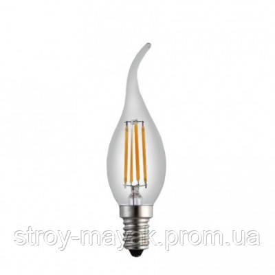Світлодіодна лампа LED VELMAX V-C37, 4W, E14, 4100K, 360LM, кут 260 ° яскраве світло