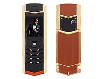 H-Mobile V1 (Hope V1) brown-gold. Vertu design