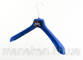 """Вешалка для одежды TREMVERY """"ВОП-45/5"""" флокированная серая S3black+ФЛОК, фото 2"""