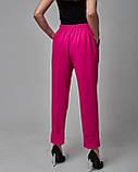 Брючный женский костюм: жакет, брюки и кроп топ черный. Турция, фото 6