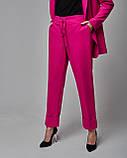 Брючный женский костюм: жакет, брюки и кроп топ черный. Турция, фото 5