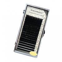 Ресницы черные Нагараку Nagaraku mix 16 линий 7-15