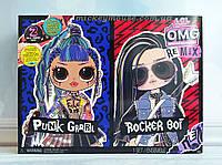 Игровой набор с куклами ЛОЛ ОМГ Ремикс Рок Дуэт L.O.L. Surprise! O.M.G. Remix Rocker Boi and Punk Grrrl 567288, фото 1