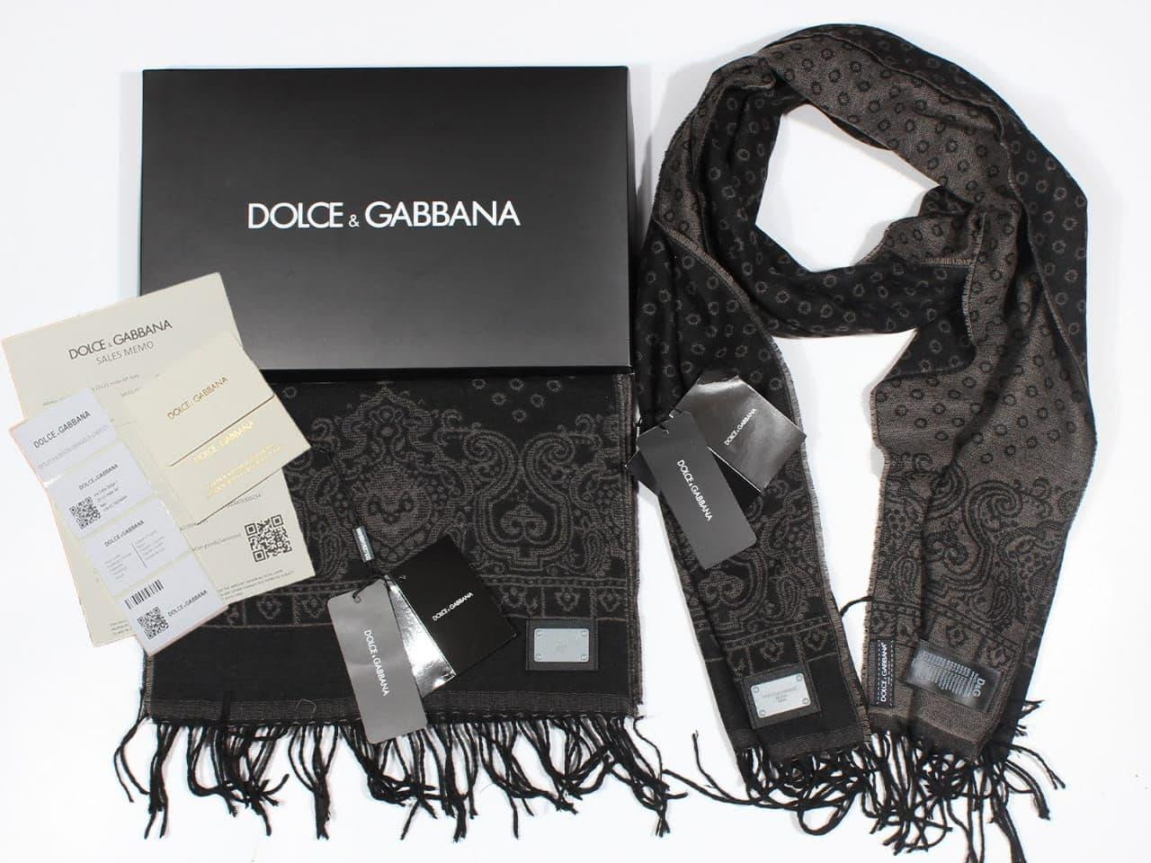 Шарф Dolce&Gabbana CK1403 чорний