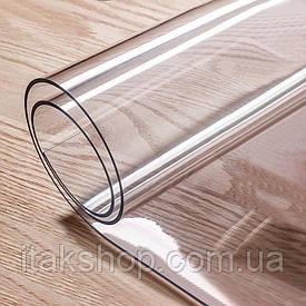 Скатерть мягкое стекло для стола и мебели Soft Glass (3.2х1.4м) толщина 0.4 мм Прозрачная