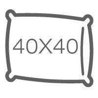 Напірники без канта 40х40