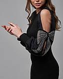 Черное платье прямого силуэта, фото 4
