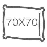 Напірники без канта 70х70