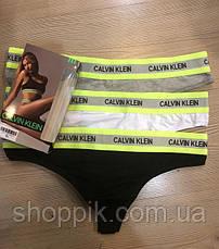 Стринги Calvin Klein neon набор 3 штуки  Реплика, фото 2