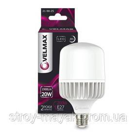 Светодиодная LED лампа VELMAX V-A65, 20W, Е27, 6500K, 1800LM дневной свет