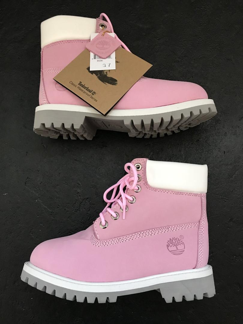 Жіночі Чоботи Timberland (Хутро),Pink