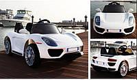 Детский электромобиль T-7616 EVA Porsche White легковая на Bluetooth 2.4G