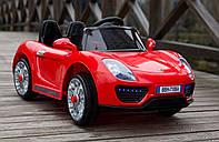 Детский электромобиль T-7616 EVA Porsche Red легковая на Bluetooth 2.4G