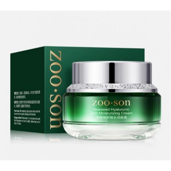 Увлажняющий крем  для лица ZOO:SON Seaweed Hyaluronic Acid Moisturizing Cream с водорослями мозуку и