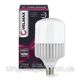 Светодиодная LED лампа VELMAX V-A100, 40W, Е27-Е40, 6500K, 3600LM дневной свет