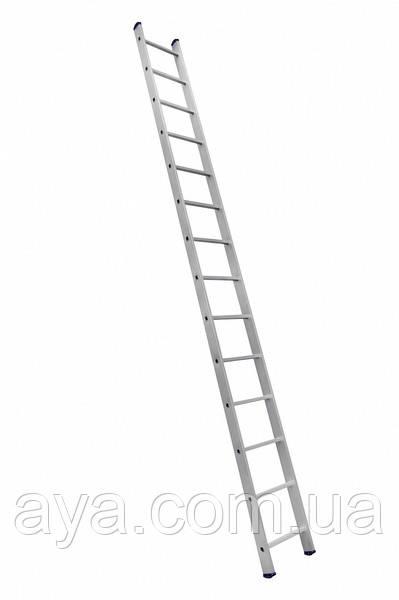 Алюминиевая лестница приставная на 14 ступеней (профессиональная)