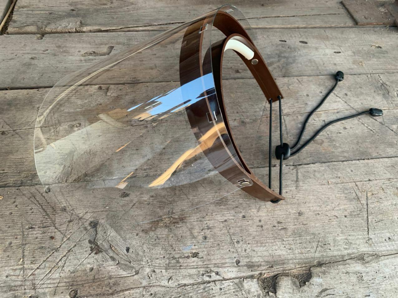 Защитный щиток - экран - маска QumaxPro серии CF с 1 ПЕТ экраном и поднимаемым забралом. Лучший для врачей!!!