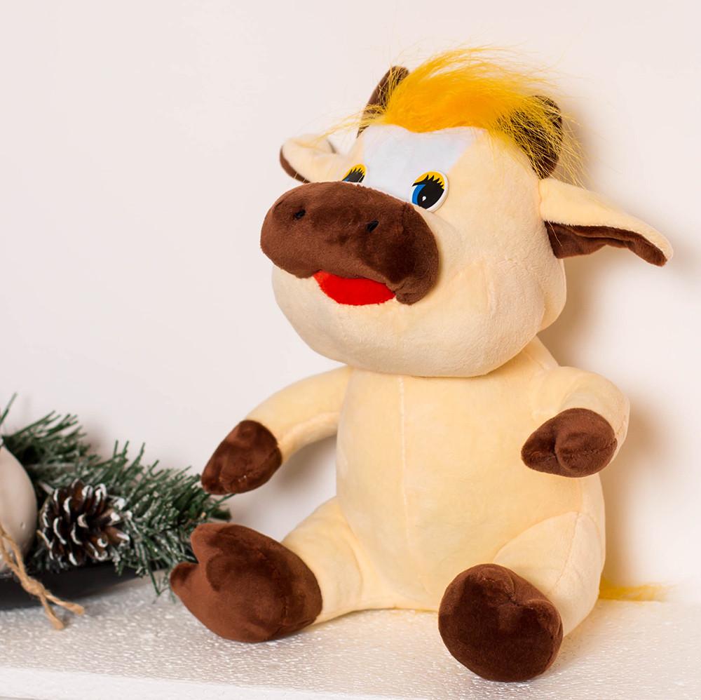 Веселый бычок мягкая игрушка  – игрушка символ 2021 года