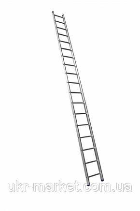 Алюминиевая односекционная приставная лестница на 18 ступеней (универсальная), фото 2
