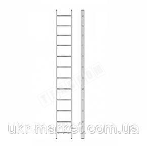 Алюмінієва драбина приставна на 12 сходинок (професійна), фото 2