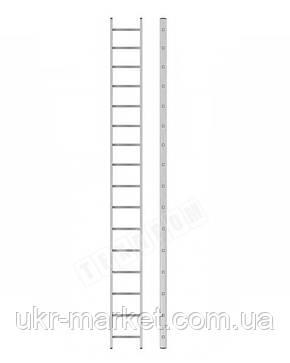 Алюминиевая лестница приставная на 16 ступеней (профессиональная), фото 2