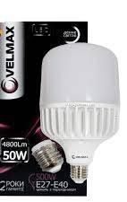 Светодиодная LED лампа VELMAX V-A118, 50W, Е27-Е40, 6500K, 4500LM дневной свет