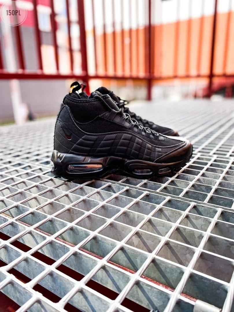 Мужские кроссовки Nike Air Max 95 Sneakerboot Black (черные) 150PL
