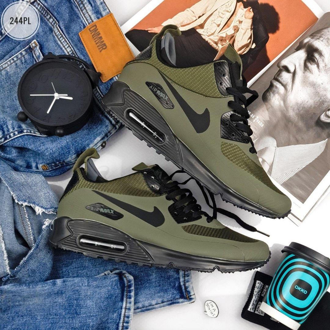 Мужские кроссовки Nike Air Max 90 Mid Ultra Termo Khaki (хаки) 244PL