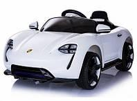 Детский электромобиль Porsche 8988 на резиновых EVA колёсах белый