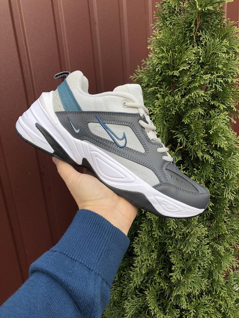Мужские кроссовки Nike M2K Tekno (темно-серые с бежевым) 10113
