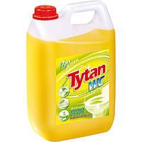 Засіб для миття туалетів та видалення накипу Tytan WC Лимонна свіжість антибактеріальний (жовтий) 5 л.