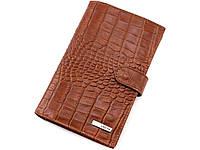 Портмоне мужское вертикальное кожаное светло-коричневое Karya 0498-61, фото 1
