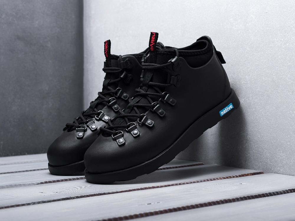 Зимние ботинки Native The Fitzsimmons Black (черные) ТЕРМО KS 1320