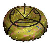 Тюбинг, надувные сани, ватрушка 100 см, Желтый неон, фото 1