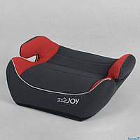Бустер автомобильный детский автокресло JOY 30448 группа 2-3 вес ребенка 15-36кг серо-красный