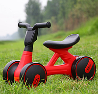 Детский мотоцикл каталка-толокар Bambi M 4086-3 музыка свет красный